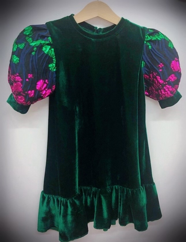 Organza Ruffle Sleeve Dress Girls