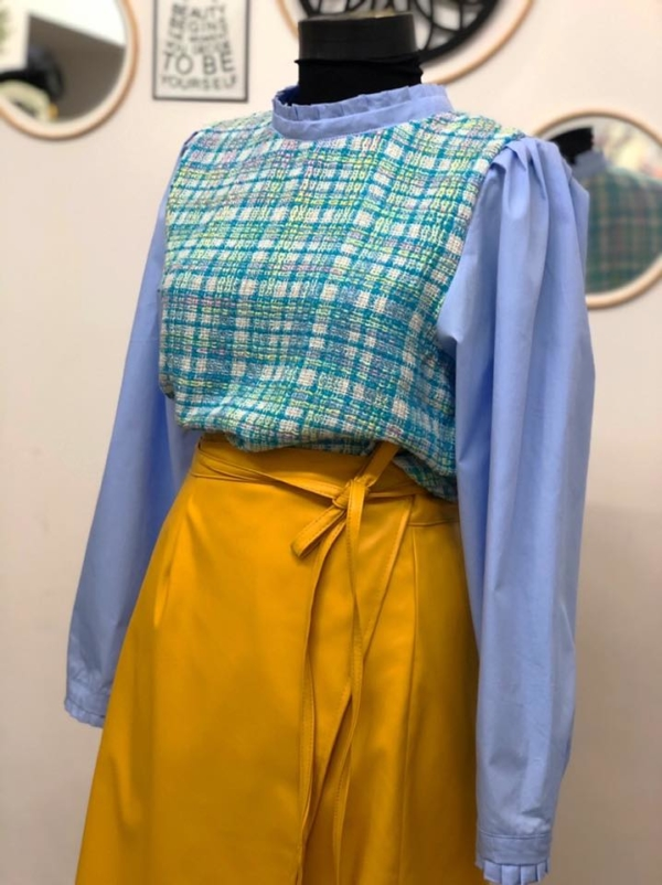Leather Wrap Skirt3