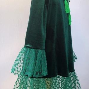 Velvet Polka Dress