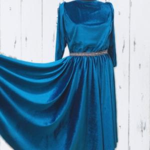 Velvet Circle Skirt Dress Women