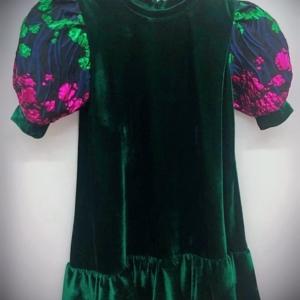 Organza Ruffle Sleeve Dress