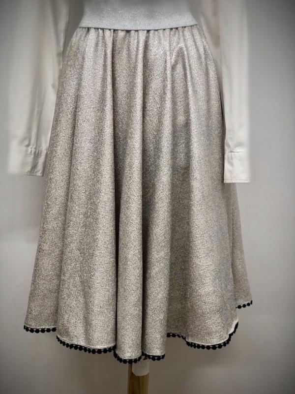 Nukka Metallic Circle Skirt