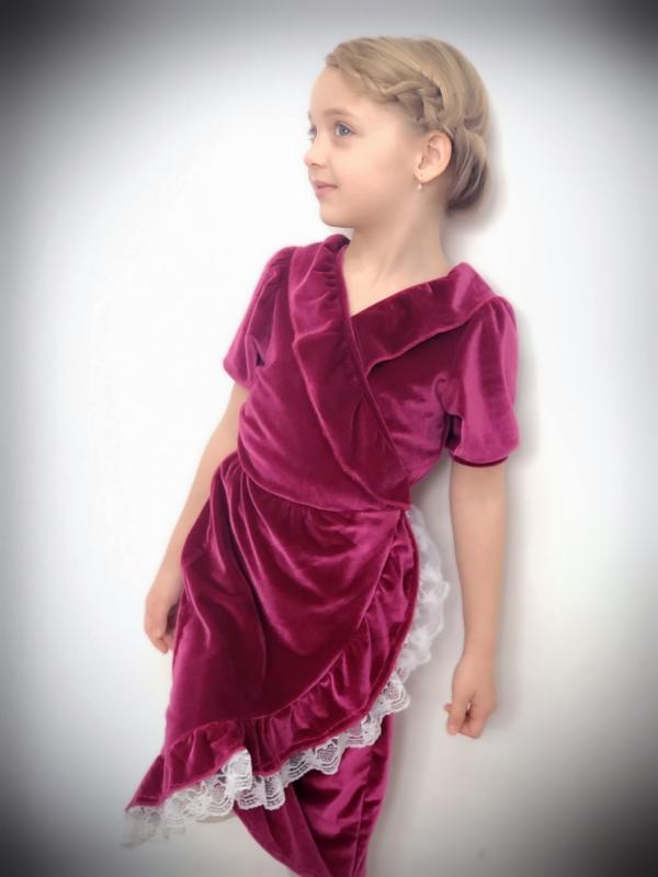 Velvet Wrap Dress Girls