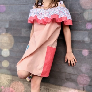Double Frill Off-Shoulder Dress
