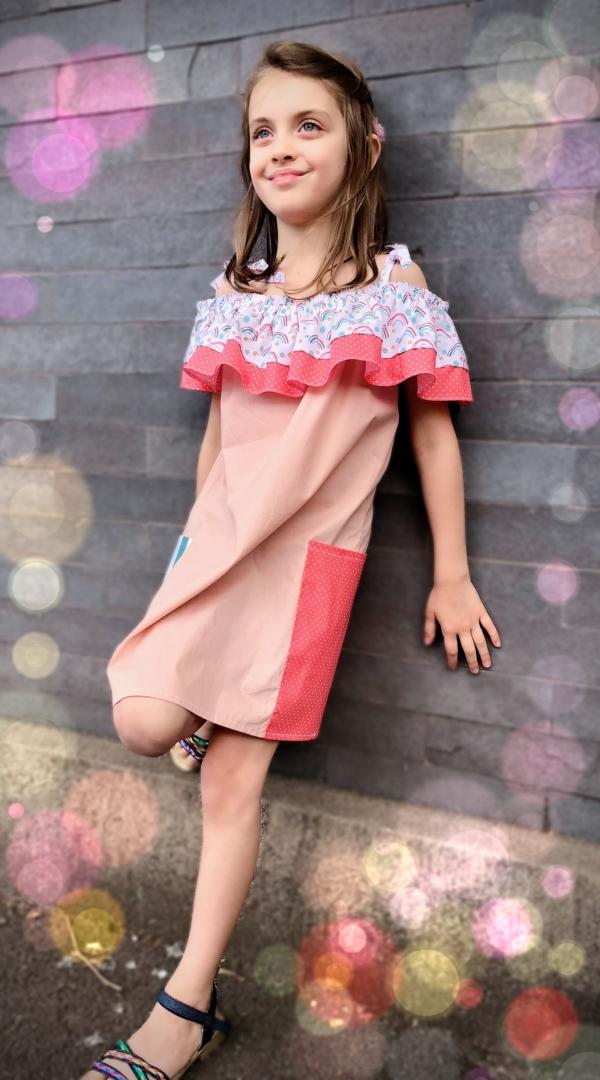 Double Frill Off-Shoulder Dress