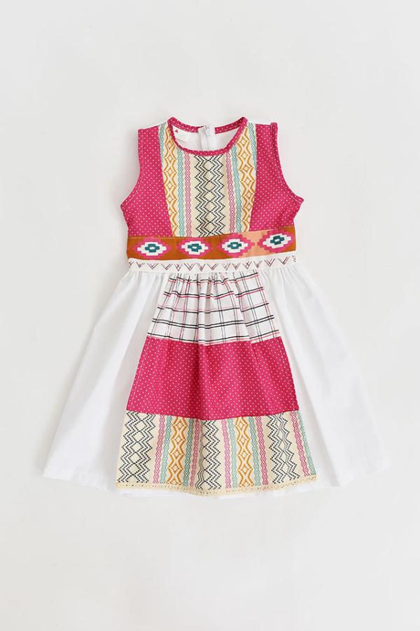 Etno Belt Dress with Apron