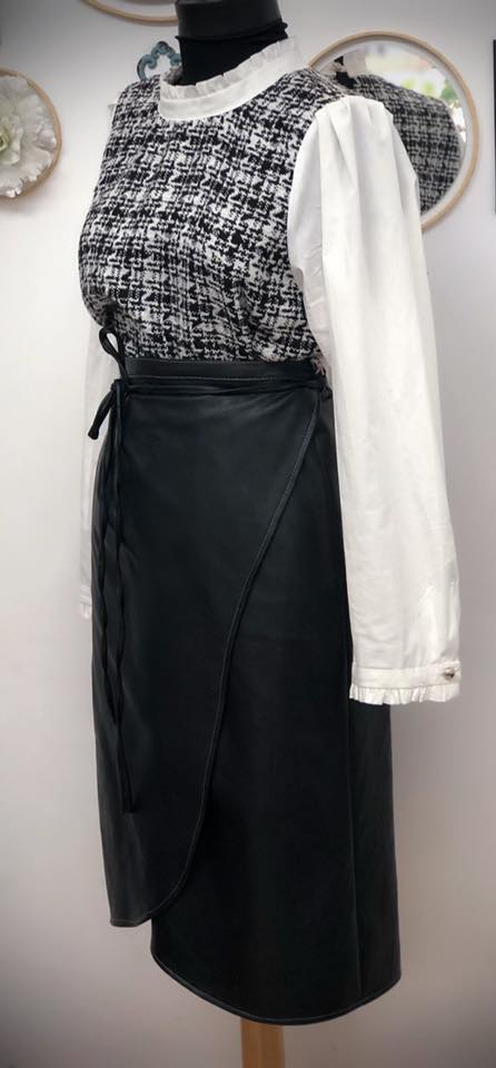 Leather Wrap Skirt 6