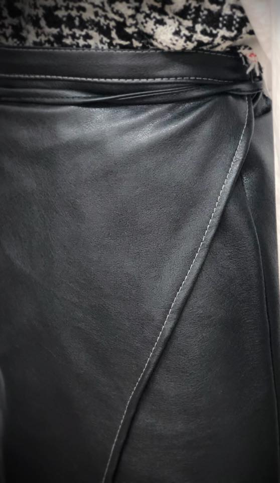 Leather Wrap Skirt5