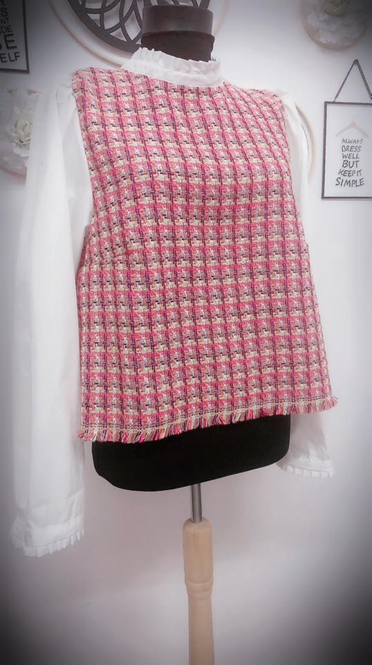 Crop Top Wool Mix Shirt
