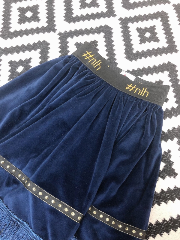 NLH Velvet Fringed Skirt