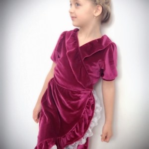 Velvet Wrap Dress Girls