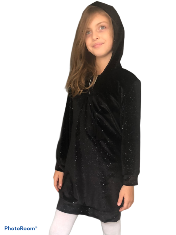 The urban sparkle hoodie dress