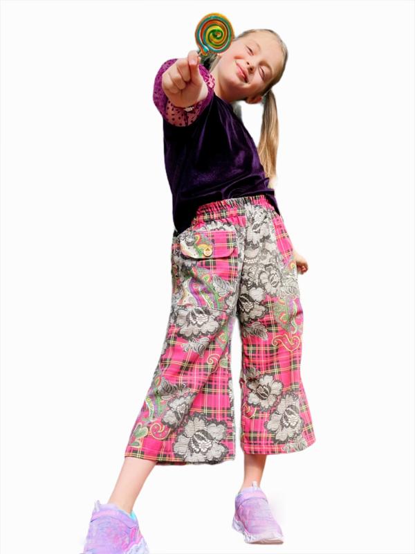 lollypop tartan lace culottes